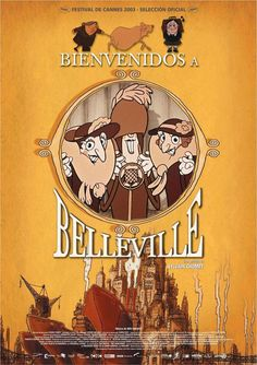 The Triplets of Belleville - Spanish Style Movies Poster - 69 x 102 cm Movie Poster Art, Film Posters, Francois Truffaut, Man Cave Wall Art, Going Postal, Movie Releases, France, Triplets, Cursed Child Book