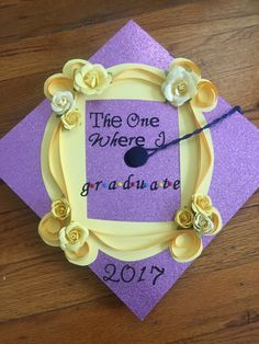 My graduation cap! #TheOneWhereIGraduate #friends