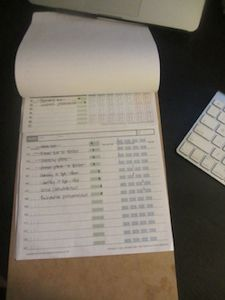 A clipboard as my work-from-home supervisor | Unclutterer