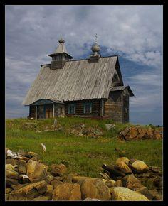 Wooden church in Kem, Karelia