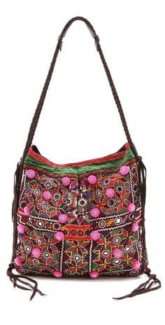 Shisha embroidery  This is one of my dream bags. I want one like this. A bohemian one.  VISIT http://kajadons.archetype.nu
