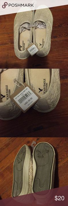 American Eagle Outfitters lace slip ons BRAND NEW American Eagle Outfitters Lace Slip on shoes. Never worn. American Eagle Outfitters Shoes Flats & Loafers