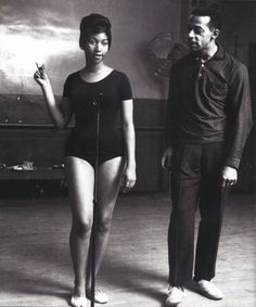 Aretha Franklin in a leotard. I am hunting down the story behind this picture. I wonder what she was rehearsing for?