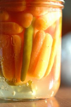 Spicy Thai Basil Carrot Pickles