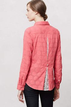 Lacework Popover from Anthropology. Great alteration idea for a shirt that is too big or too small.
