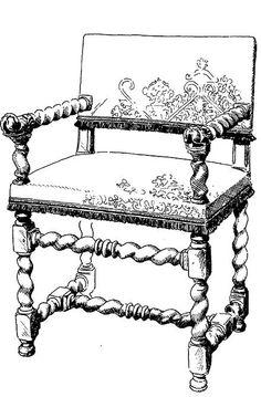 Armchair  Louis XIII