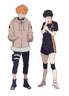 Hinata(s) Haikyuu / naruto Anime Naruto, Me Anime, Fanarts Anime, Haikyuu Anime, Anime Characters, Manga Anime, Haikyuu Genderbend, Anime Kiss, Anime Meme