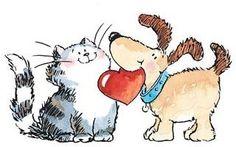 Margaret Sherry - Gato e Cachorro
