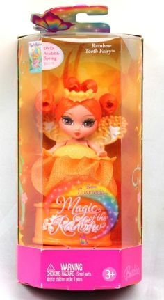 *Barbie Fairytopia Magic of the Rainbow Rainbow Tooth Fairy Orange 2006
