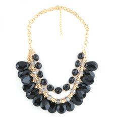 Collar de Piedras Negras - LA FASHION