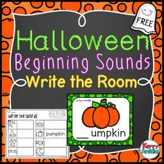 *FREE* Halloween Beginning Sounds Write the Room- this is perfect for a last minute center for Monday. My students loved it!