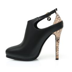 cf5a9c5072c Womens Shoes Pump Super High Heels Thin Genuine Leather Pointed Toe Snake  Skin