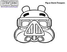 angry birds Star wars coloring pages - strom