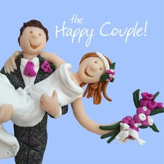 Happy Couple Wedding Greeting Card One Lump or Two