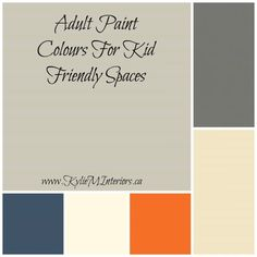 Top 5 Paint Colours For a Playroom / Family Room (Benjamin Moore) adult friendly paint colours for kid friendly rooms and spaces Benjamin Moore, Boys Room Colors, Kitchen Color Palettes, Boy Room Paint, Boys Room Paint Ideas, Playroom Paint Colors, Teen Boy Rooms, Teen Boys Room Decor, Coloring For Boys