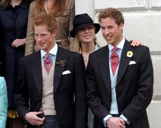 Princes Harry and William with their cousin, Zara Phillips