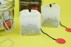 How To Make DIY Coffee Filter Tea Bags   A piece of string or twine and a pair of scissors are all you will need to make DIY coffee filter tea bags at home.