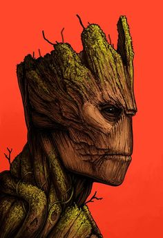 Groot by Mike Mitchell – Mondo Disney Marvel, Marvel Heroes, Marvel Avengers, Mike Mitchell, Storyboard, Comic Books Art, Comic Art, Baby Groot Drawing, Marvel Paintings