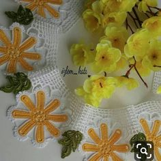 Daisy Pattern, 3d Origami, Crochet Art, Baby Halloween Costumes, Handicraft, Home Crafts, Towel, Embroidery, Lace