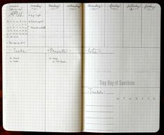 Tiny Ray of Sunshine: Bullet Journal Idea: Weekly layouts Bullet Journal Décoration, Bullet Journal Layout, Bullet Journal Inspiration, Organization Bullet Journal, Planner Organization, Journal Covers, Journal Pages, Journal Ideas, Moleskine