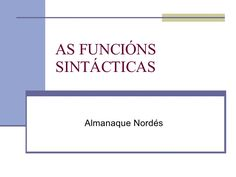 as-funcins-sintcticas-473467 by Manulourenzo via Slideshare