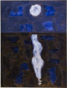 Milton Avery-White Moon, 1957