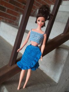 Crochet Barbie Clothes Outfit Crop Top & by BarbieBoutiqueBasics, $10.00