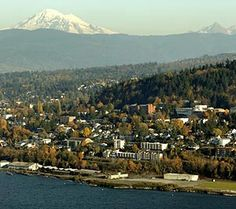 Bellingham, WA - the bay and Mt Baker