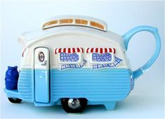 Caravan Blue Teapot by Teapottery