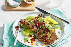 Haloumi, oat and zucchini fritters with crispy chorizo Sweet Potato Fritters, Paleo Sweet Potato, Zucchini Fritters, Chorizo Recipes, Vegetarian Recipes, Healthy Recipes, Small Food Processor, Food Processor Recipes, Delicious Magazine Recipes