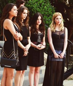 Spencer Hastings (Troian Bellisario),Hanna Marin (Ashley Benson), Aria Montgomery (Lucy Hale) and Emily Fields (Shay Mitchell)