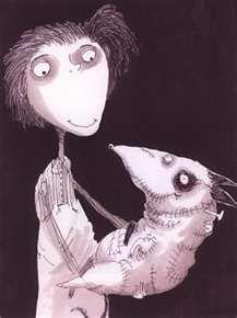 Tim Burtons orignal concept art for Frankenweenie.