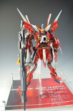 MG Aegis Gundam Prytwen Pack - Custom Build Modeled by kazumattyo Astray Red Frame, Battle Bots, Strike Gundam, Gundam Astray, Gundam Custom Build, Unicorn Gundam, Robot Technology, Gundam Seed, Gundam Wing