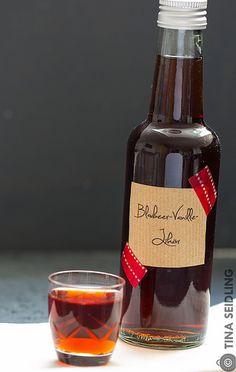 Blaubeer Vanille Likör für Weihnachten 2014 - Lunch For One