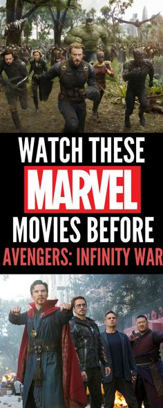 You want to watch these Marvel movies in order before Avengers: Infinity War is in theaters April to get caught up. Check out the Avengers: Infinity War trailer and these lists for the new Marvel fan. My favorite characters are the Avengers and Bucky! Marvel Films In Order, Avengers Movies In Order, Marvel Movies List, Marvel Avengers Movies, Marvel Movie Posters, Marvel Fan, Marvel Order, Marvel Comics, Funny Movies