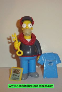 Playmates THE SIMPSONS World of Springfield action figures 2003 series 12 MR PLOW HOMER 100% COMPLETE Condition: Excellent - collector owned / displayed only Figure size: approx. 5 inch --------------