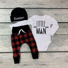 Personalized Newborn Baby Coming Home outfit/Little man set/baby boy coming home outfit/baby boy/buffalo plaid print/ – boybabynames Newborn Outfits, Baby Boy Outfits, Bringing Baby Home, Baby Coming Home Outfit, Man Set, Little Man, Buffalo Plaid, Boys, Clothes