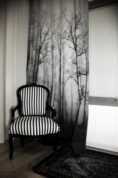 High contrast branches for a good backdrop/wall curtain decor