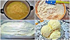 Preparación del helado crema de limón
