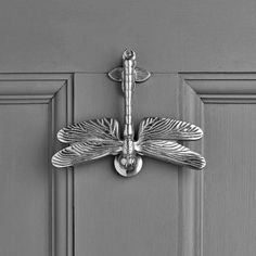 Browse our range of solid brass, chrome and nickel animal door knockers. Free UK delivery available on most door knockers! Front Door Accessories, Home Decor Accessories, Porch Doors, Entry Doors, Door Knockers, Door Knobs, Dragonfly Decor, Composite Door, Beautiful Bugs