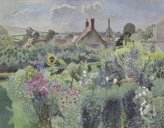 Cottage Garden at Compton Abbas by Gilbert Spencer    Date painted: 1939