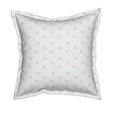 Serama Throw Pillow featuring pink ribbon  - Small by drapestudio | Roostery Home Decor