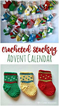 Free Crochet Stocking Advent Calendar Pattern - Crochet Garland Pattern - 73 Free Crochet Garland Ideas - DIY & Crafts