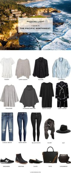 What to Pack for 7 days in the Pacific Northwest packing light packing list…