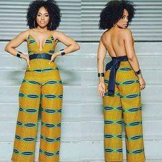 nigerianische hochzeit Gorgeous Outfit by Gorgeous Outfit by African Print Dresses, African Dresses For Women, African Wear, African Attire, African Women, African Prints, African Style, African Fabric, African Print Jumpsuit