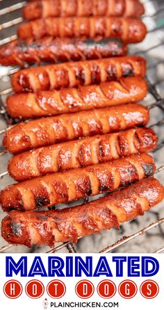 grilling recipes Marinated Grilled Hot Dogs - the BEST hot dogs we've ever eaten! Cut slits in the hot dogs and marinate in a combination of chili sauce, onion powder, garlic powder Dog Recipes, Sausage Recipes, Grilling Recipes, Cooking Recipes, Grilling Ideas, Healthy Grilling, Best Grill Recipes, Vegetarian Grilling, Smoker Recipes