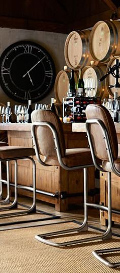 Including a bar to your home can make it feasible that you have friends over to watch in style. Read Remarkable Home Bar Areas Home Bar Accessories, Tabletop Accessories, Large Indoor Plants, Home Bar Areas, Empty Wine Bottles, Bars For Home, Foot Rest, Bar Stools, Living Spaces
