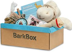 What a cute idea. BarkBox - a monthly subscription of treats for you pup!