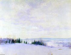 Connecticut Hills, aquarelle de Walter Launt Palmer (1854-1932, United States)