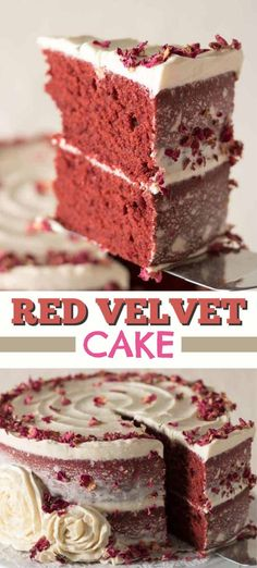 This Red Velvet Cake recipe is a cake recipe that uses red cocoa, espresso powder, and is topped with a delicious cream cheese frosting. Recipes Using Fruit, Cake Mix Recipes, Cupcake Recipes, Cupcake Cakes, Dessert Recipes, Cupcakes, Candy Recipes, Holiday Cakes, Holiday Desserts